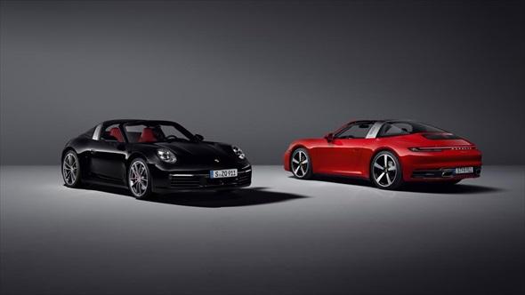 ポルシェ「911 タルガ4S」(左)「911 タルガ4」(右)(写真:ポルシェ、以下同)