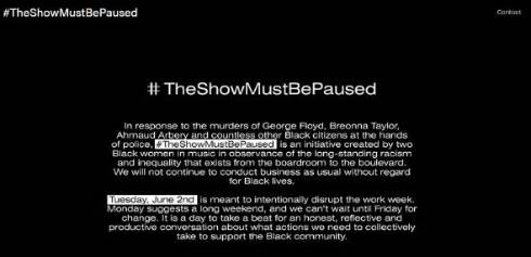 BlackoutTuesday ジョージ・フロイド TheShowMustBePaused