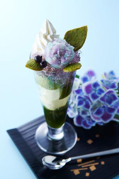 紫陽花パフェ