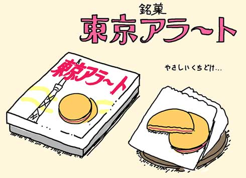 銘菓 東京アラート イラスト お菓子 お土産
