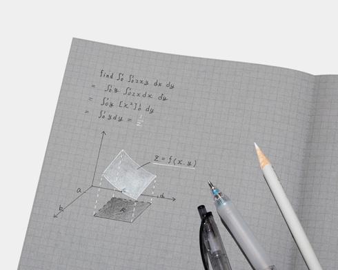 白と黒で書くノートにグラフを書いたところ