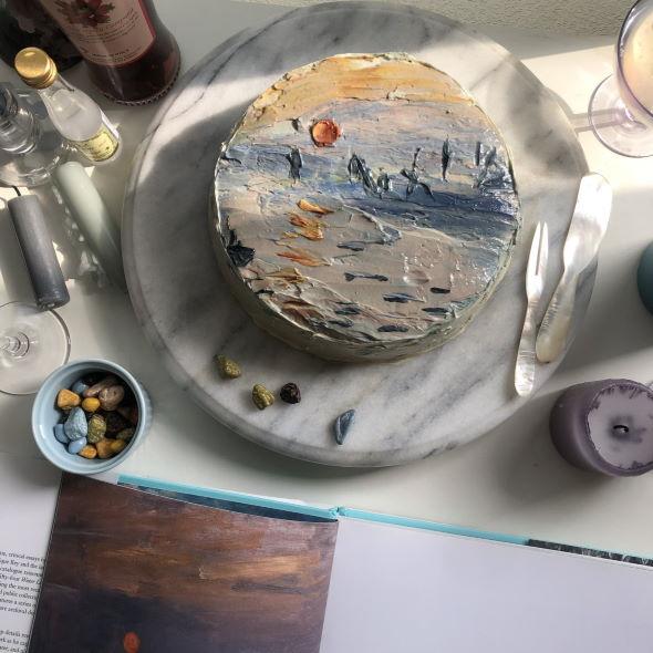 クロード・モネ 印象・日の出 ケーキ