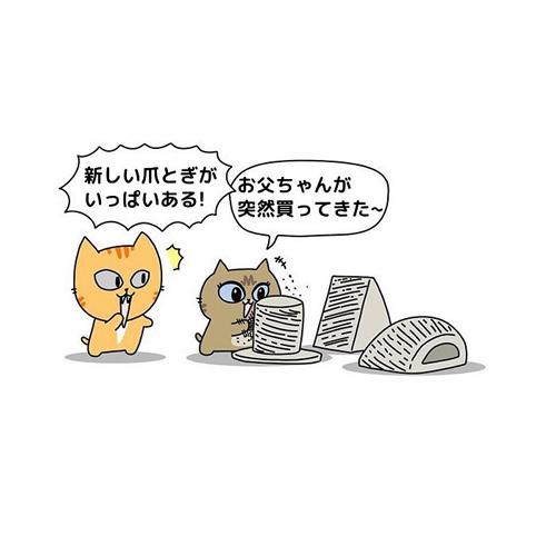 爪とぎ漫画1