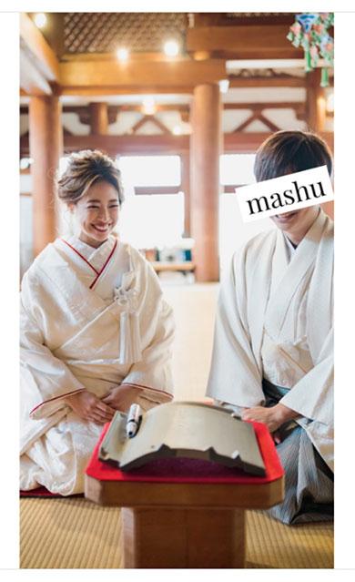 舟山久美子 結婚 前撮り