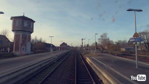 YouTube 海外 鉄道 ドイツ 夕日 前面展望
