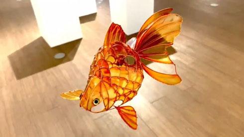 金魚モビール