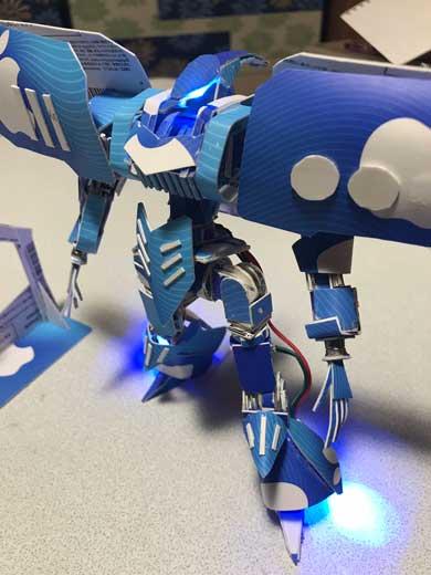 プリペイドカード νガンダム 可動 磁石 手作り 模型 フィギュア