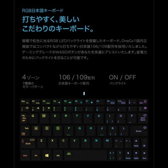 OneGx1 ONE-NETBOOK Technology テックワン ゲームパッド Nintendo Switch 着脱式 ポータブルゲーミングPC