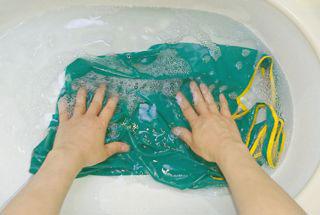エコバッグを手洗いするところ