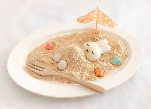 白玉 ミッフィー かわいい きなこ 砂 クリームソーダ 手作り