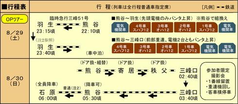 秩父鉄道 夜行急行 三峰号