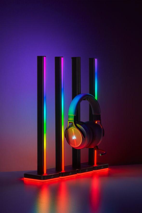 ゲーミング 照明 虹色 デバイス Corsair iCUE LT100
