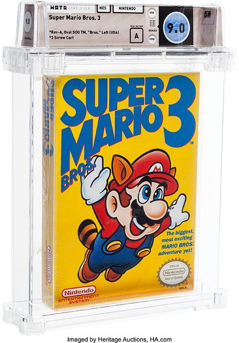 未開封「スーパーマリオブラザーズ」が1200万円 ソフト単体ではかつてない高額落札