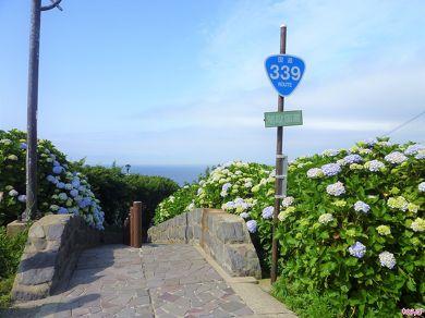 「階段国道」と書かれた補助標識