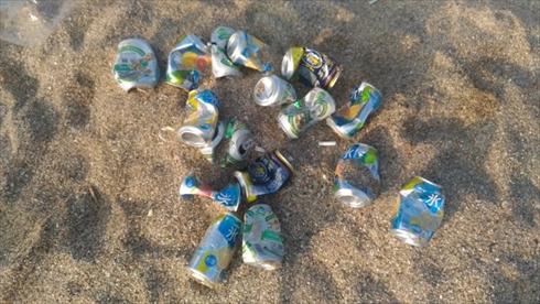 砂浜 ゴミ