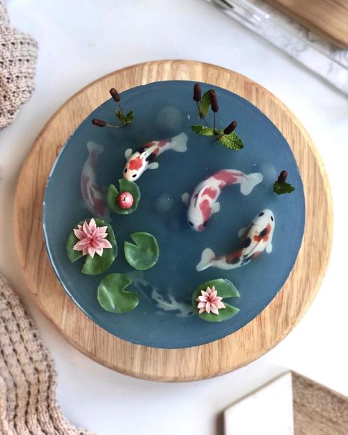 錦鯉の池のケーキ