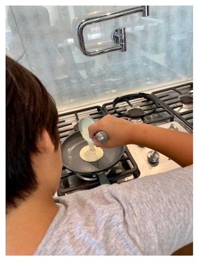 つんく 長男 息子 パンケーキ クッキング 料理