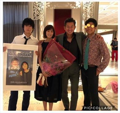 三浦りさ子 三浦知良 キングカズ 夫婦 結婚記念日 ブログ 結婚式 息子 長男