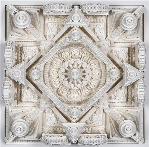 緻密に作り込まれた紙の建築アート 古代遺跡みたいな迫力がすごい