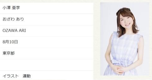 小澤亜李 ヒゲドライバー 声優 ミュージシャン 結婚