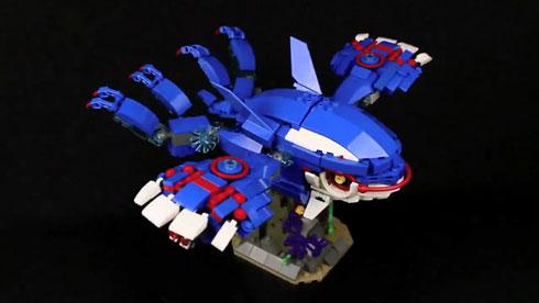 LEGO レゴ ブロック カイオーガ 変形ロボ ポケモン くまきん