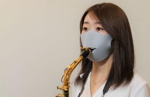 シリカクリン/管楽器対応抗菌消臭立体マスク