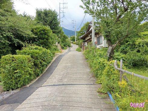 歩行者専用道路に見えますが、れっきとした県道です