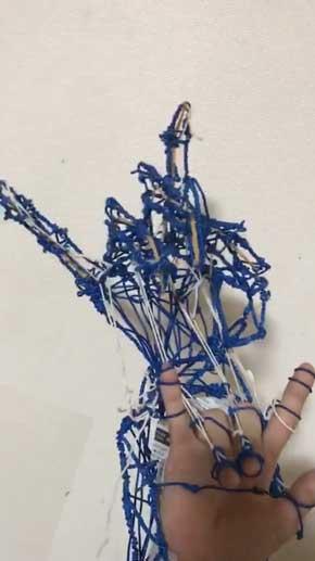 弟 27 夏休みの自由研究 作品 手作り ロボット ハンド 機構