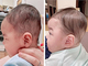 """稲垣早希、0歳息子の""""ヘルメット治療""""前後の姿を公開 頭部の形が大幅改善に「思い切ってやって良かった」"""