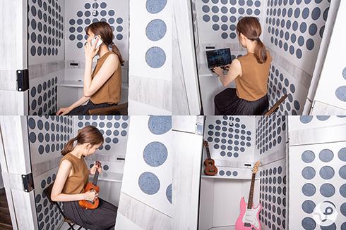 テレワーク会議や楽器演奏が快適に 届いた日に組み立て完了する防音ボックス「おてがる〜む」を発売