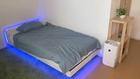 ベッド 下 LED テープライト ゲーミングベッド 雑コラ