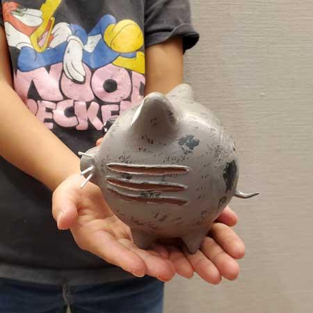 娘 自由工作 3Dプリンター 猫ちゃん Zbrush 小学2年生 時代