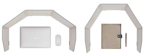 キングジム パーソナルパーティション テレワーク 折り畳み式 卓上