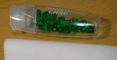 ブレスケア ガラス とんぼ玉