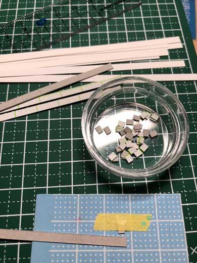 紙工作 ミニチュア 月 星 デスク 椅子 部屋 空間
