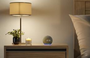 Amazon Echo with clock