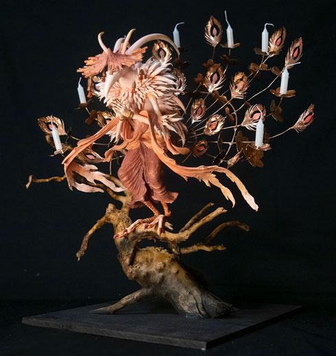 ムラマツアユミ 造形作家 立体 作品 幻想生物 妖怪 甲冑魚