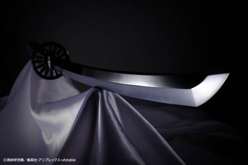 『PROPLICA 日輪刀(竈門炭治郎)』を切っ先から見たところ