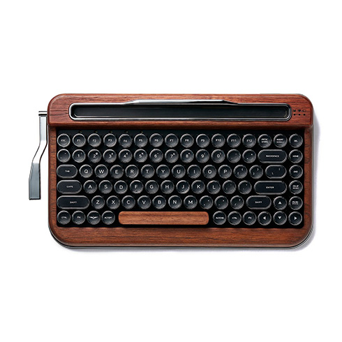 側面レバーをガチャガチャ使える! タイプライターみたいなワイヤレスキーボード「PENNA KEYBOARD」が発売