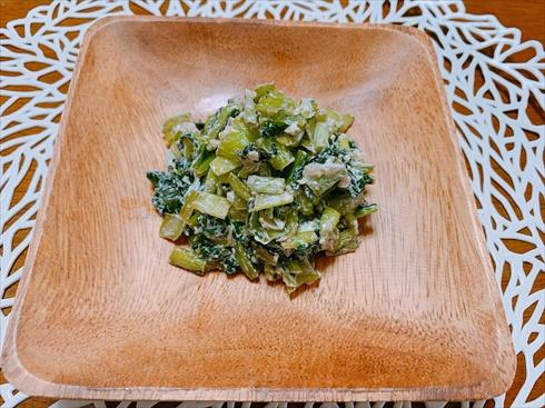 小松菜 おつまみ ヨーグルト