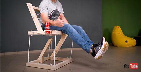 ひょっとして無重力? 宙に浮いているように見えるテンセグリティ構造の椅子がすごい