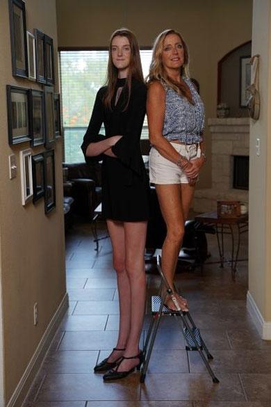 世界一 足の長い人 ギネス認定 テキサス 女性 最も長い脚 2020年