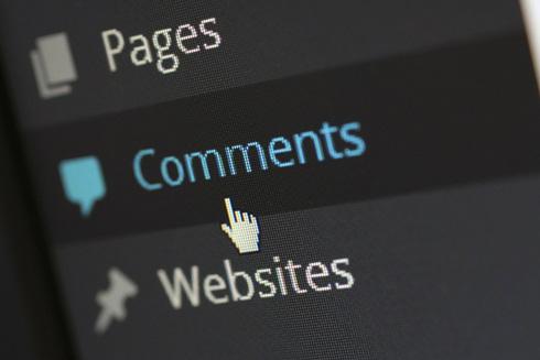 コメントという文字を写した画面の写真
