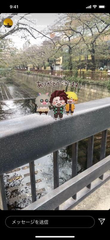 Instagram 鬼滅の刃 ARエフェクト 炭治郎 禰豆子