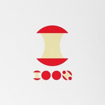 りんご文字 デザイン
