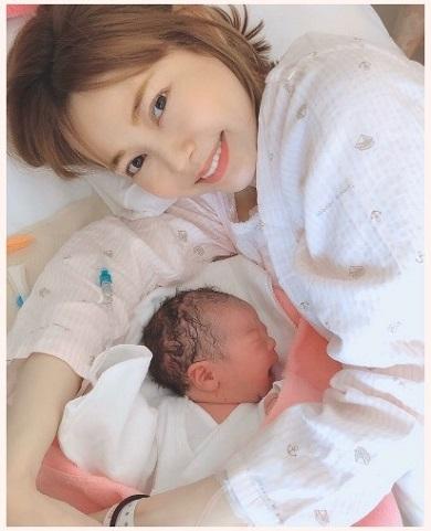 上原さくら 娘 第1子 子ども 出産