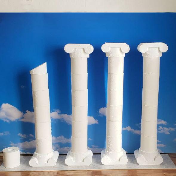 トイレットペーパー 保管 古代ローマ 柱 神殿 デザインフェスタ2020