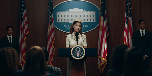 アリアナ・グランデ 新曲 Positions アメリカ 大統領 MV ミュージックビデオ 11月3日 大統領選 トランプ バイデン