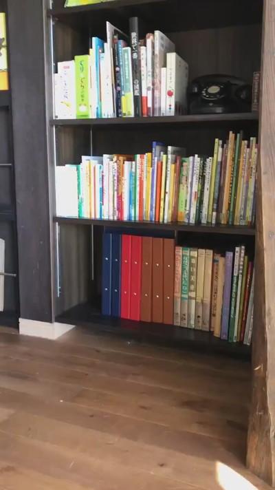 ネコちゃんが湧く本棚
