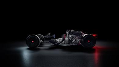 8リッターW型16気筒クワッド(4)ターボエンジンは最大出力1850馬力を発揮